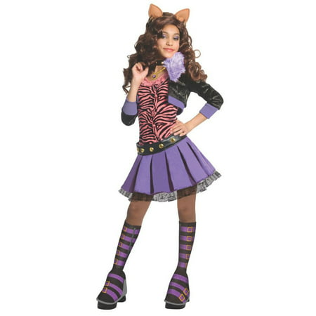 Halloween Monster High Deluxe Clawdeen Wolf Child Costume - Kids Monsters Inc Costume