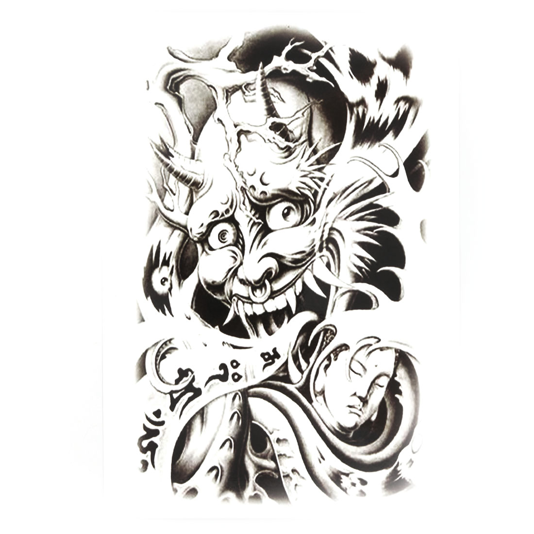 Body Art Devil Buddha Pattern Removable Decor Sticker Decal