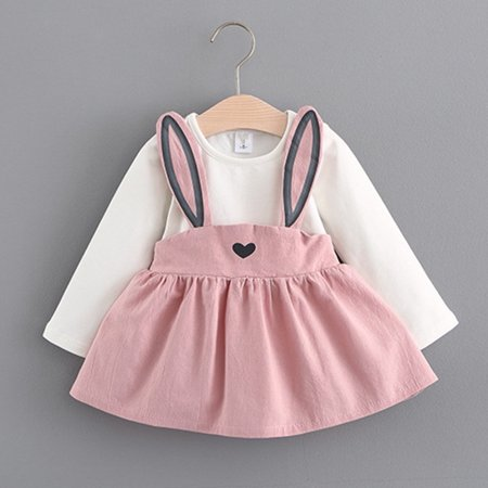 Cheap Cute Dress (BOBORA Autumn Winter Baby Girls Long Sleeve Cute Rabbit Princess)