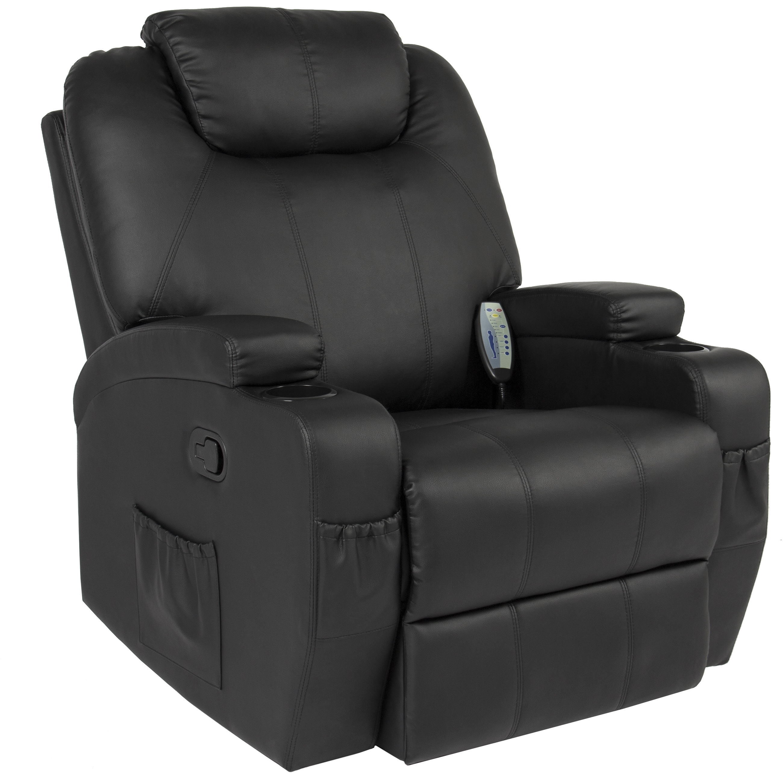 Best Choice Products Massage Recliner Sofa Chair Heated W/Control Ergonomic Executive Couch Lounge Bk