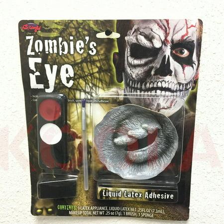Halloween Make Up Many Eyes (Dead Zombie's Eye 'No Eye' Horror Theatrical Make Up Kit Halloween Accessory)