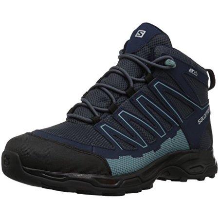 Salomon Women's Pathfinder Cswp Mid W Walking Shoes, India InkNavy BlazerEggshell, 6 Medium US