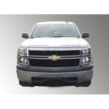 Fits 14-15 CHEVY SILVERADO 1500 - DOESN'T FIT LTZ - Gloss Black ABS GRILLE Insert/Overlay