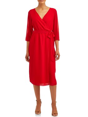 Women's Wrap Woven Dress