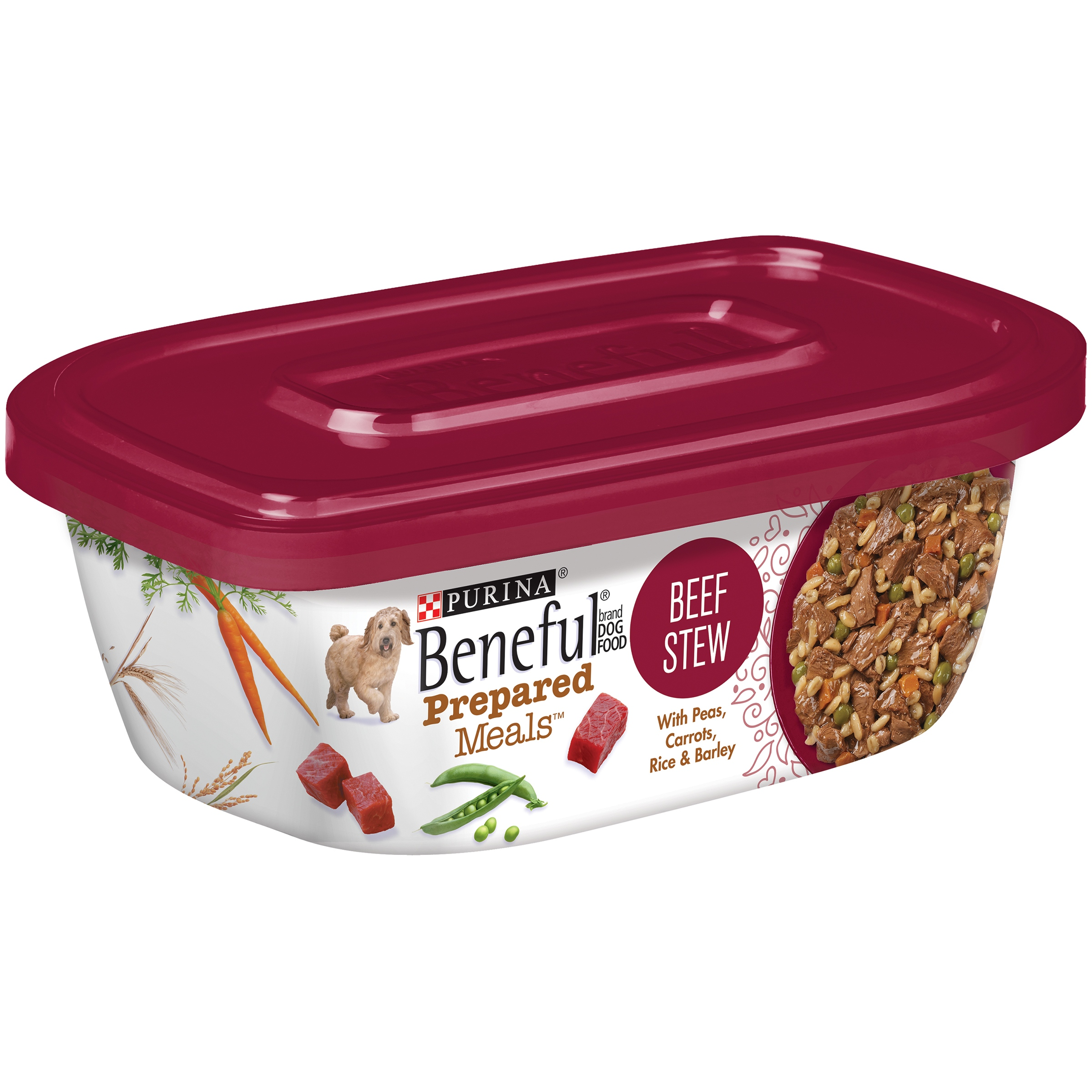 Purina Beneful Prepared Meals Beef Stew Dog Food 10 oz. Plastic Tub