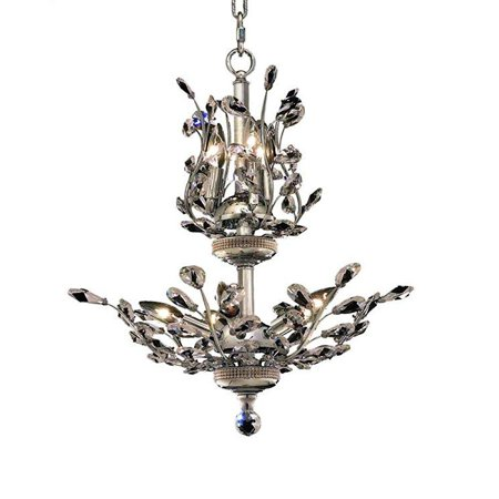 elegant lighting 2011d21c/rc orchid 22-inch high 8-light chandelier, chrome finish with crystal (clear) royal cut rc crystal