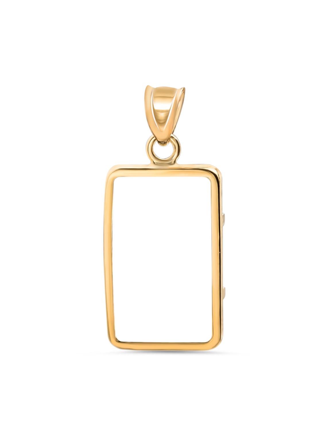 14K Gold Prong Plain-Front Bezel (1 gram CS Gold Bar)