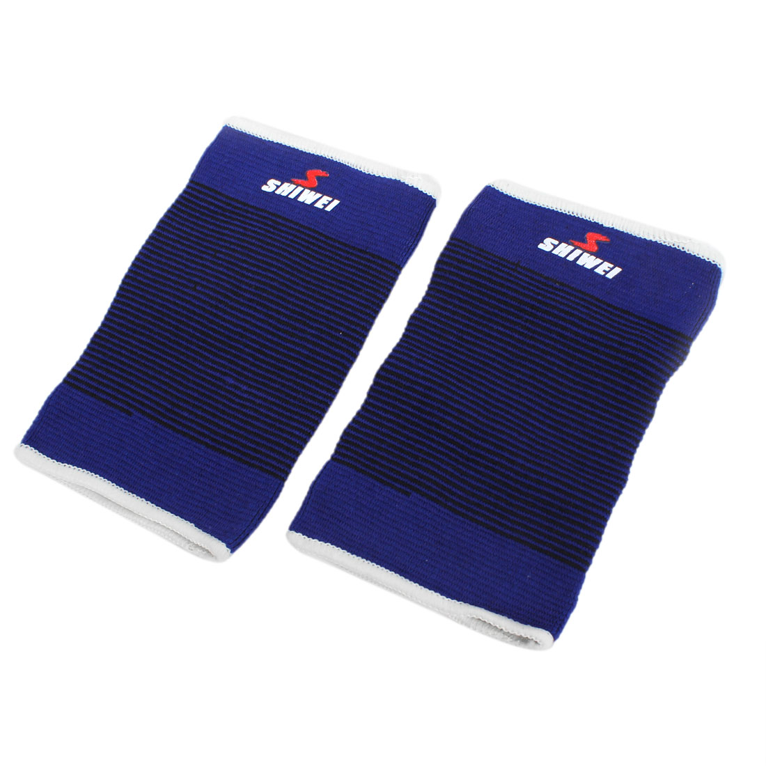 2 x Sports Blue Black Pinstripe Textured Stretchy Knee Support Guard Sleeve