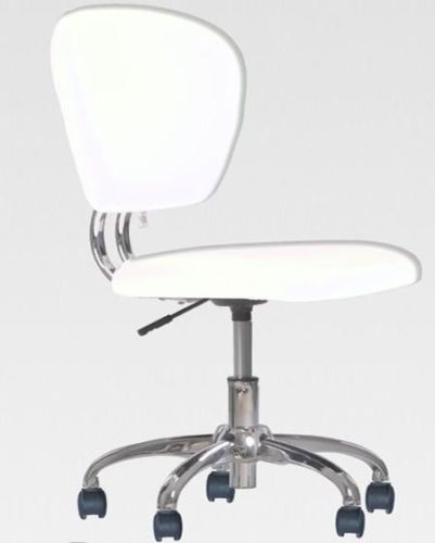 Beau White PU Leather Mid Back Task Chair Office Desk Office Chair H20