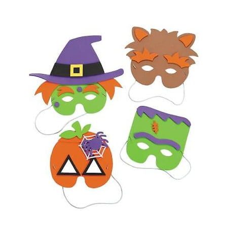 IN-48/9877 Halloween Mask Craft Kit Makes 12
