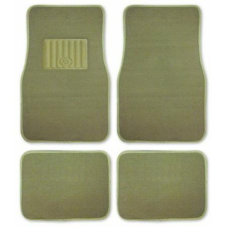 Car Floor Mats Ultra Premium Carpet Tan 4 Piece covid 19 (4 Piece Carpet Mat coronavirus)