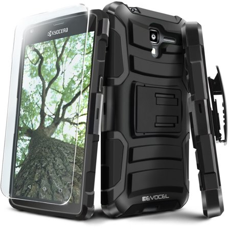 Kyocera Hydro View / Hydro Reach Case, Evocel [Belt Clip Holster] [Kickstand] [HD Screen Protector] [Dual Layer] Generation Series Phone Case for Kyocera Hydro View (C6742) / Hydro Reach (C6743) ()