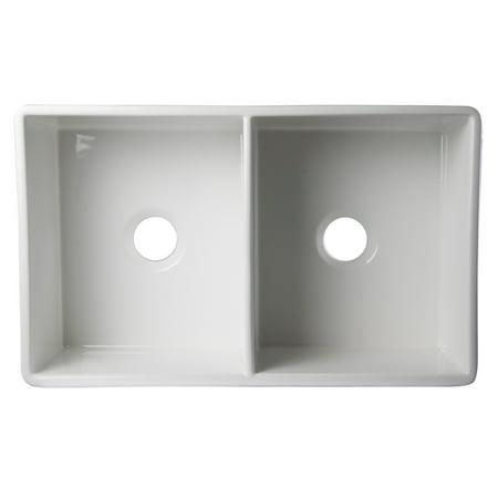Fireclay Farmhouse Apron Kitchen Sink (ALFI brand AB539-W White 32
