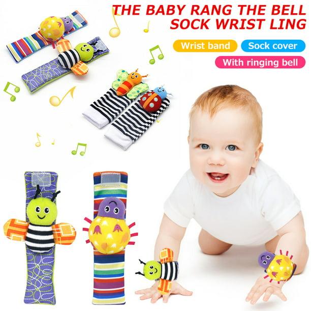 Newborn Baby Socks Rattle Sounds Rattling Sensory Toy Infant Toddler