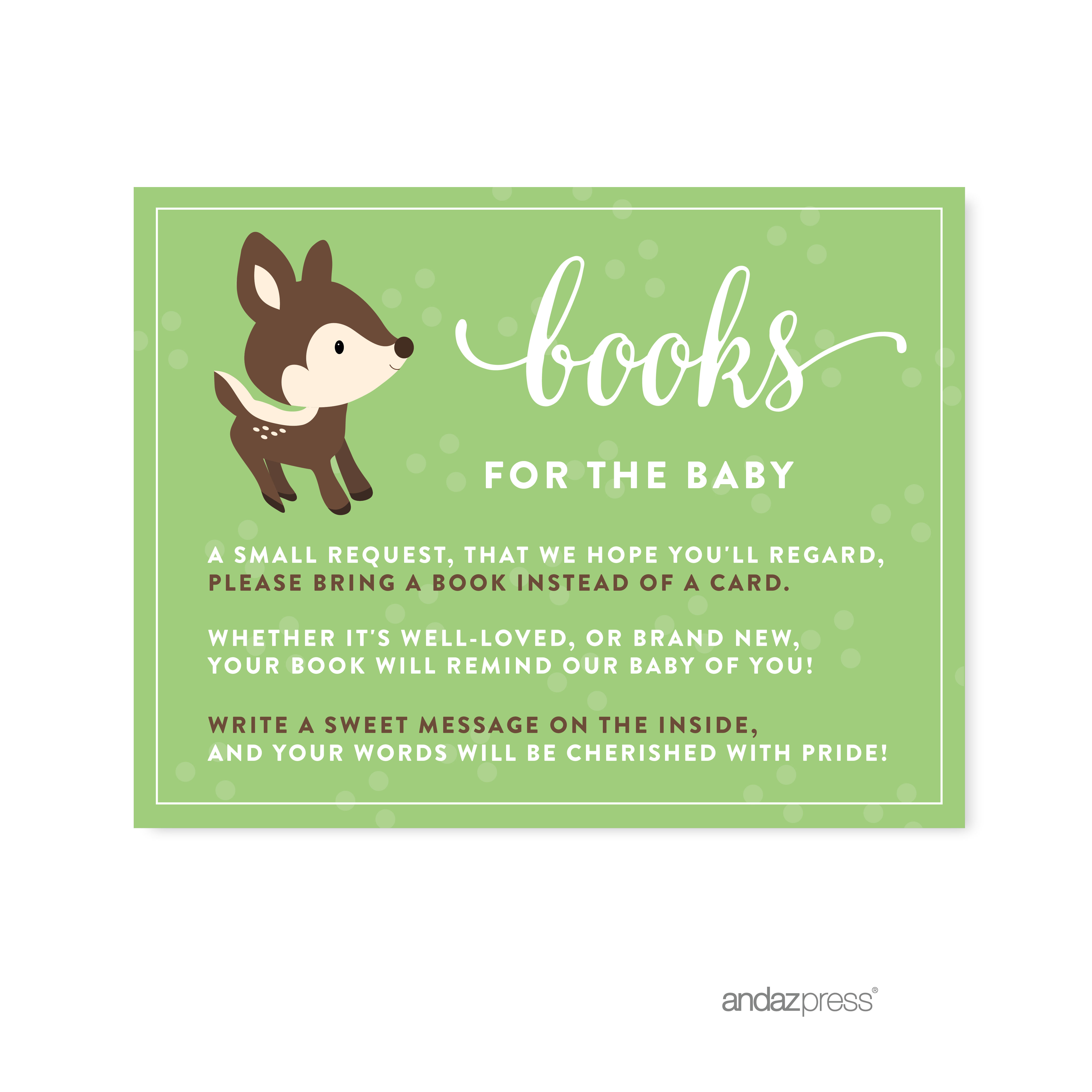 Books For Baby  Woodland Animals Deer Baby Shower Games , 20-Pack