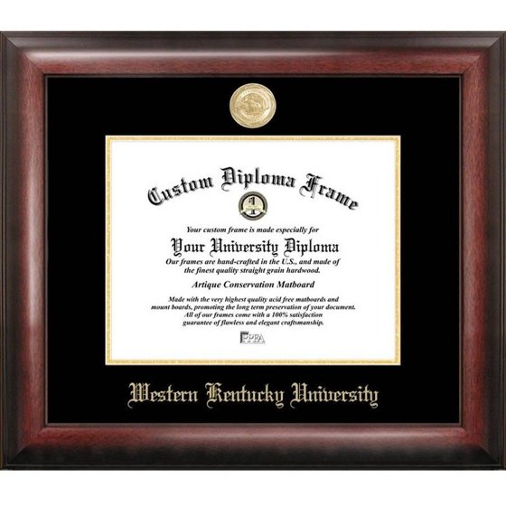 Western Kentucky University 85 X 11 Gold Embossed Diploma Frame