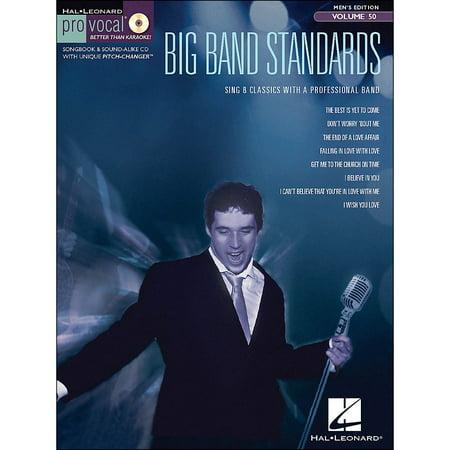 - Hal Leonard Big Band Standards - Pro Vocal Songbook & CD for Male Singers Volume 50