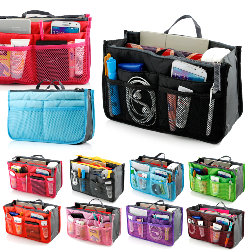 Lady Women Travel Insert Organizer Compartment Bag Handbag Purse Large Liner Tidy Bag