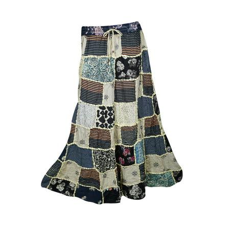 8076d5238 Mogul Interior - Mogul Womens Vintage Patchwork Long Skirt Ethnic ...