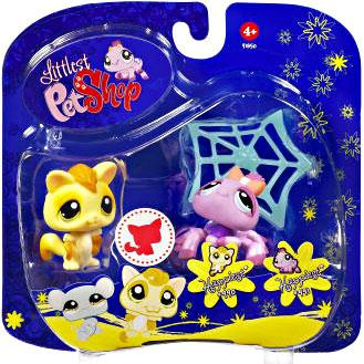Littlest Pet Shop 2009 Assortment B Series 3 Sugar Glider & Spider Figure 2-Pack