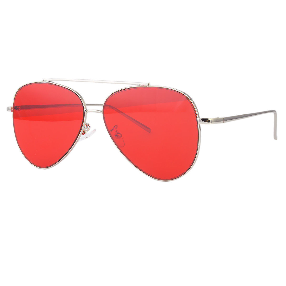 eb707b7732dab Sunny Shades - Retro Aviator Sunglasses Vintage RED GOLD Lens Men Women  Fashion Frame Glasses - Walmart.com