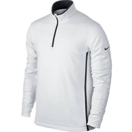 Nike 686085-100XXL Mens 0.5 Zip Therma-Fit Cover Up - White, 2XL