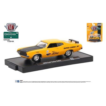 1974 Ford Torino Distributor - M2 Machines Auto-Drivers 1:64 R50 1970 Ford Torino Cobra Orange w/ Black Hood