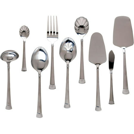Celebration Hostess Set (Gibson Home Anneville 9-Piece Flatware Hostess Set, Stainless)