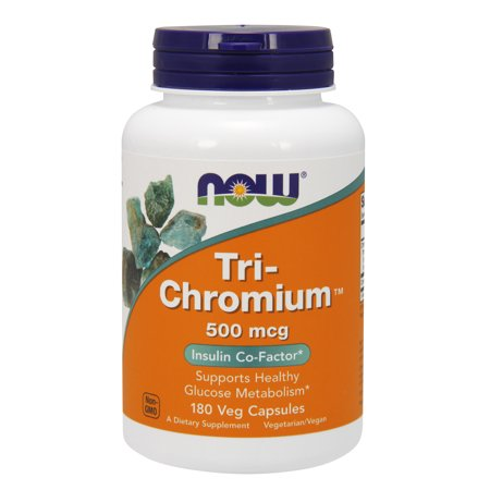 - NOW Supplements, Tri-Chromium™ 500 mcg with Cinnamon, 180 Veg Capsules