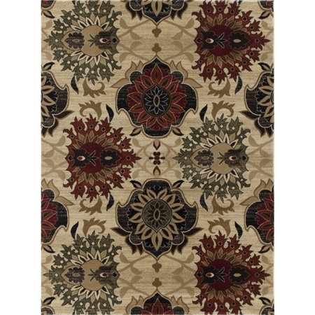 Easy Machine - Madrid Collection Area Rug by Benissimo Cozy, Soft, Durable and Easy Cleaning 2' X 3' Light Flower Machine Rug for Living Room, Kitchen, Office