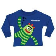 Personalized Yo Gabba Gabba! Brobee Music Royal Blue Toddler Boys' Long-Sleeve Tee