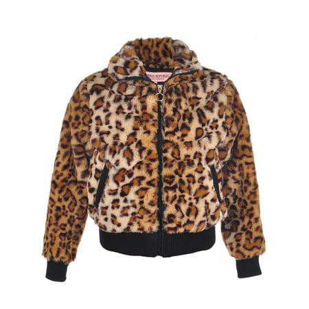 (Urban Republic Girls' Faux Fur Flight Jacket)