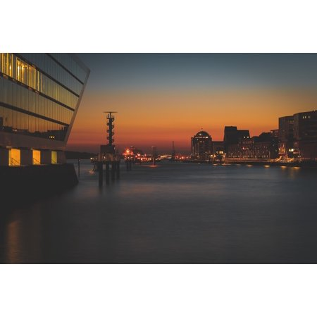 LAMINATED POSTER Lights Dusk Cityscape Buildings City Downtown Poster Print 24 x 36