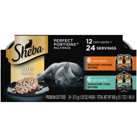 Sheba Perfect Portions Wet Cat Food Cuts in Gravy Chicken & Tuna Variety Pack