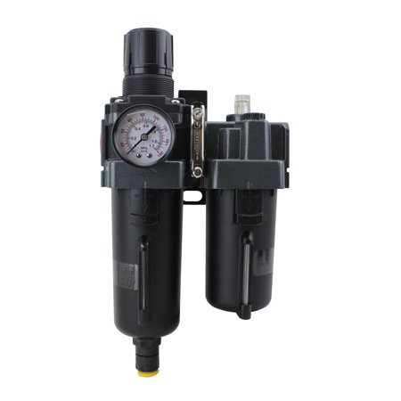 "EXELAIR™ by Milton FRL (Piggyback) Air Filter & Regulator w/Lubricator - 1/2"" NPT - Metal Bowl, Automatic Float (EX45PBL40A-04M)"