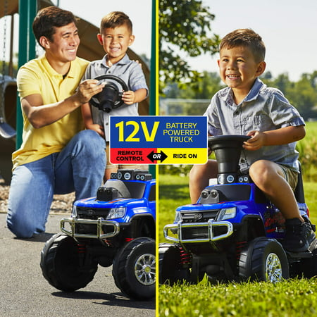 Huffy 12V Battery-Powered Remote-Control Monster Truck Ride-On Toy](Fire Truck For Kids To Ride)