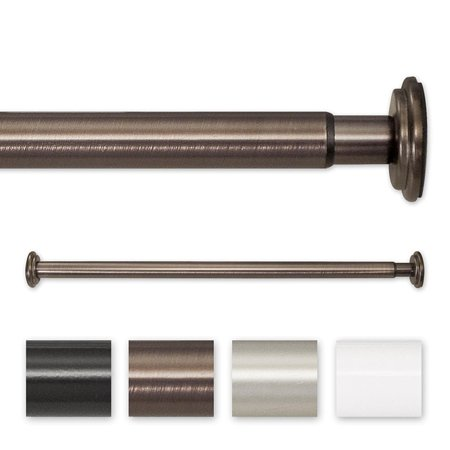 Pinnacle  18 to 30-inch Adjustable Spring Tension or Screw Mount Curtain Rod - 30