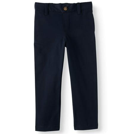 Wonder Nation School Uniform Super Soft Flat Front Pants (Toddler