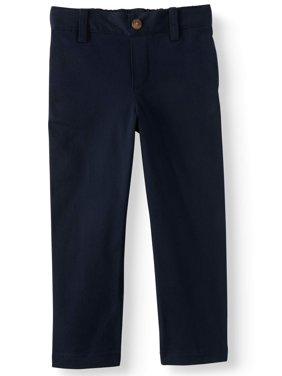 Wonder Nation Toddler Boys School Uniform Super Soft Flat Front Pants (Toddler Boys)