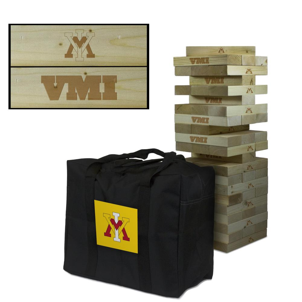 Virginia Military Institute Keydets Giant Wooden Tumble Tower Game by Victory Tailgate