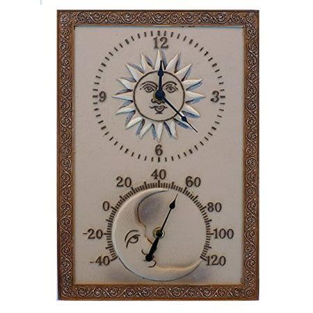 Acurite Indoor Outdoor Sun And Moon Decorative Clock With Thermometer Walmart Com Walmart Com