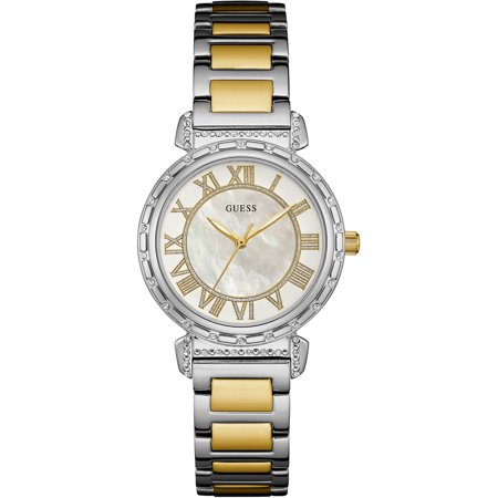 Guess W0831l3 Ladies Dress Stainless Steel Two Tone Crystal Accented Bezel 30M Wr