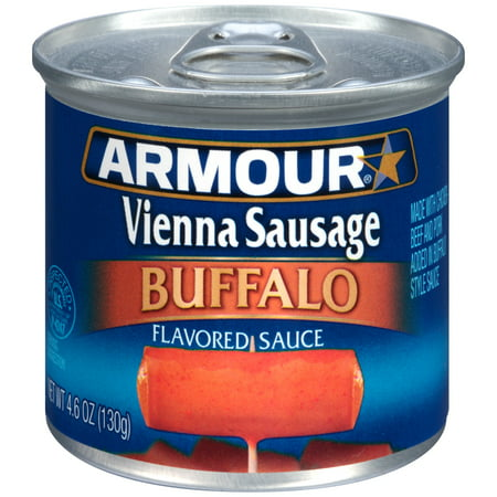 (4 Pack) Armour Vienna Sausage Buffalo, 4.6 oz