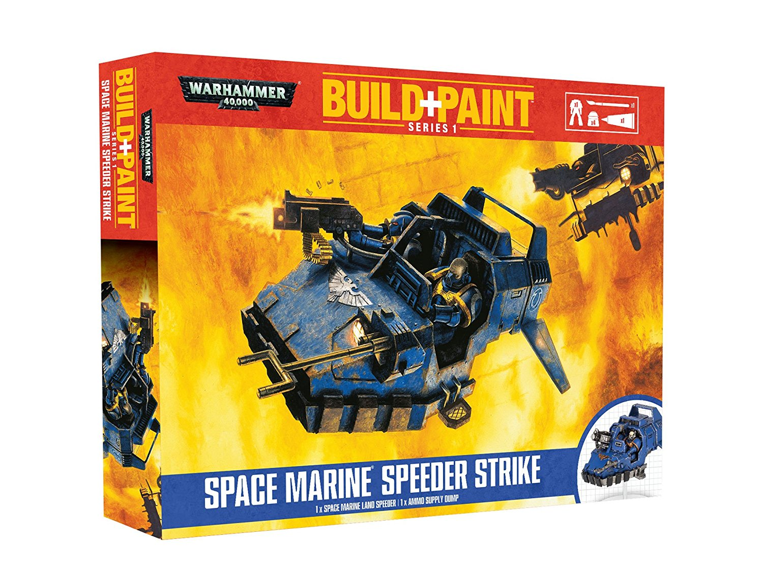 Warhammer 40K Build+Paint Model Set Series 1 Space Marine Speeder Strike Kits By Revell by