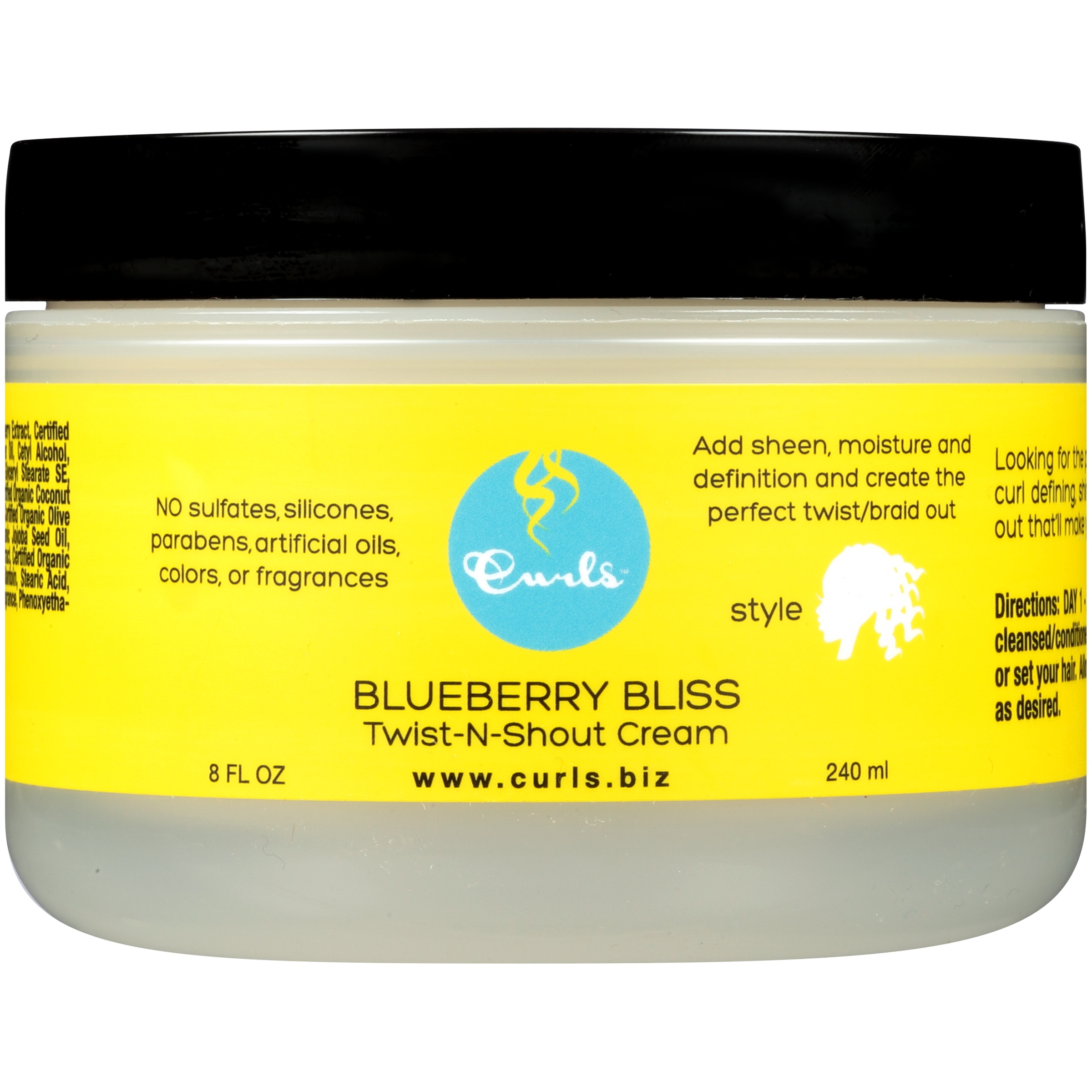 Curls™ Blueberry Bliss Twist-n-Shout Cream 8 fl. oz. Jar