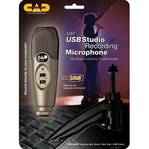 CAD Audio U37 USB Studio Recording Microphone With Stand by CAD Professional Microphones