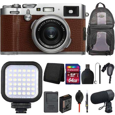 - Fujifilm X100F 24.3MP Digital Camera Full HD Wi-Fi Brown with 64GB Bundle