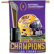 LSU Tigers WinCraft College Football Playoff 2019 National Champions 28'' x 40'' 1-Sided Vertical Banner