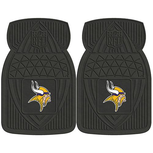 NFL 2-Piece Heavy-Duty Vinyl Car Mat Set, Minnesota Vikings - SPORTS LICENSING SOLUTIONS