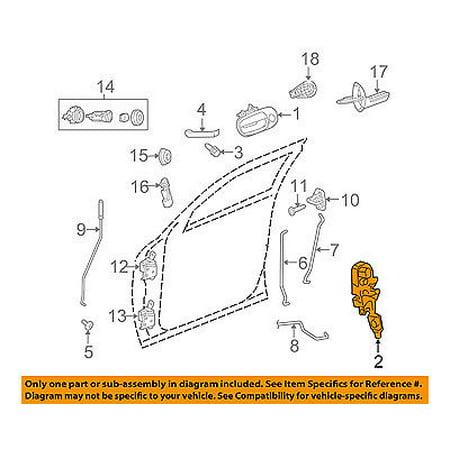 Dodge CHRYSLER OEM 08-11 Challenger Front Door-Lock Actuator/Motor 4589603AE